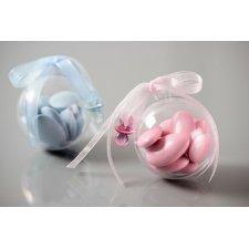 10 Bolas o caja de regalo transparente. 5 y 8 cms Agotado temporalmente
