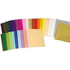 Papel de seda hojas 50x75 c/25 uds oro y plata