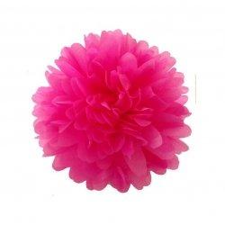 Pompón de papel de seda, Rosa fucsia. 30 cms