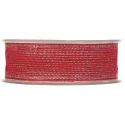 20 m de Cinta de regalo rústica roja. Ancho 40 mm