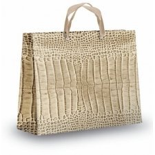 Bolsa de lujo Koko 32x12x2. Elegantísima bolsa de regalo en tonos arena