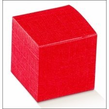 Caja de regalo roja 10x10x10 cms. C/25 uds.