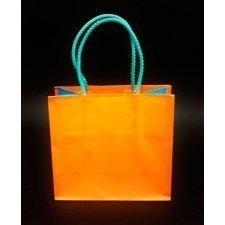 Bolsa bicolor naranja - turquesa 16x8x15 C/5 unidades
