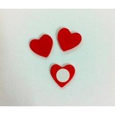 Adhesivo corazón mini, C/12 uds