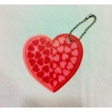 6 LLaveros corazón 7 cms.