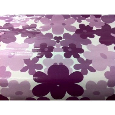 Papel adhesivo flor lila 80x110 cms