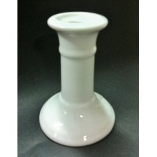 Candelabro cerámica blanca 11 cms
