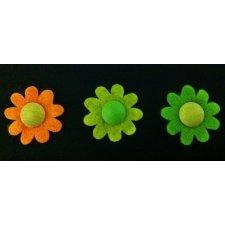 24 Flores de fieltro 3.5 cms.