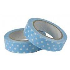 Fabric tape / tela adhesiva. Lola turquesa. 15mmx.4.5m.
