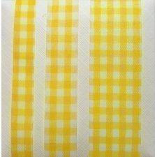 Cinta de regalo, cuadro vichy amarillo. 20 m