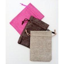 25 Sacos-Bolsas de tela rústica 9.5x13.5 cms.