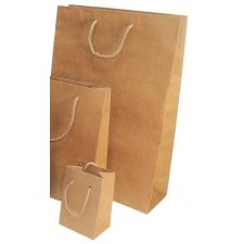 12 Bolsas de papel kraft natural 11X14.5x5 CMS.