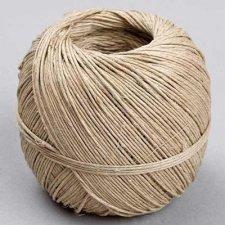 Cuerda/cordón de cáñamo natural. Bobina de 100 grs