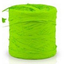 Cinta de rafia sintética. Verde pistacho. 200 m