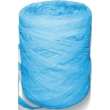 Cinta de rafia sintética. Azul turquesa. 200 m
