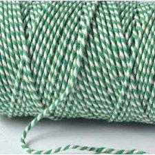 Baker´s twine verde - cordón de algodón bicolor, grueso. 100 m.