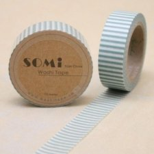 washi tape Raya verde. 15 mm x 10 m.