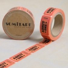 washi tape Admit one. 15 mm x 10 m.