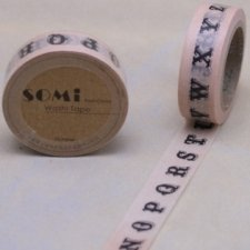 washi tape Letters. 15 mm x 10 m.