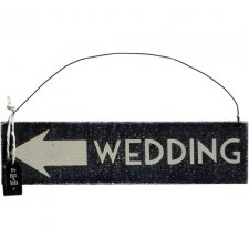 Cartel flecha wedding 18.5x4.7 cms.