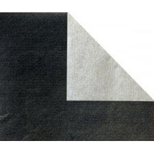 Bobina de papel de regalo, KRAFT, bicolor negro y plata