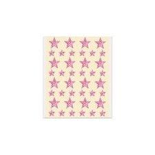 120 Estrellas adhesivas, holográficas, rosa.