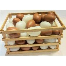 54 Huevos de plástico con basket