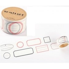 washi tape LABELS. 3 cms x 10 m.