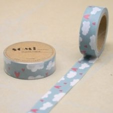 Washi tape CLOUDS. 15 mm x 10 m. AGOTADO TEMPORALMENTE