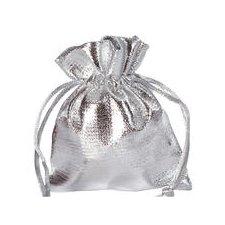 50 Bolsas lamé plata 10x12 cms. AGOTADO TEMPORALMENTE