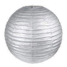 2 Lámparas / farol de papel, plata. 20 cms