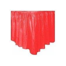 Faldón de plástico rojo