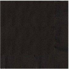 20 Servilletas de papel negro, 33x33 cms