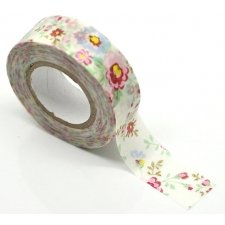 Washi tape flores. 15 mm x 10 m.