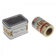 5 Rollos surtidos, washi tape, Alfabeto vintage