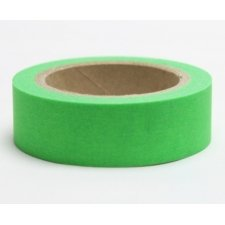 washi tape verde ácido. 15 mm x 10 m.