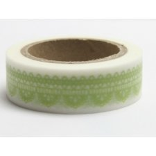 washi tape puntilla verde. 15 mm x 10 m.