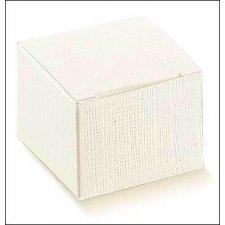 25 Cajas de regalo cuadradas, blancas. 8X8X8 cms.