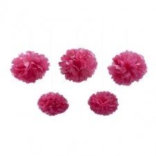 5 Pompones fucsia