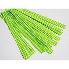 50 Cierra bolsas alambrados. Vichy verde.