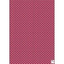3 Hojas de papel para regalo, rojo con lunares blancos