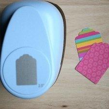 Troqueladora etiqueta 6.35 cms.