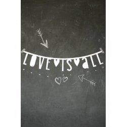 Guirnalda con letras blancas