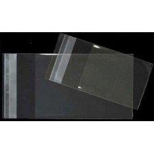 100 Bolsas 18x25 cms, tipo celofán, transparentes, cierre adhesivo
