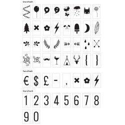 Set de 85 números y simbolos para lightbox