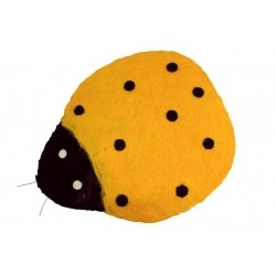 Mariquita amarilla 63x73 cms
