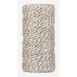 Baker twine grueso, plateado metalizado, cordón para regalos. 100 m.