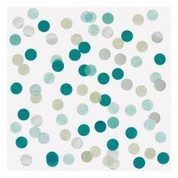 15 Grs de Confeti en tonos, verde, agua-mint y plata