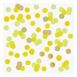 15 Grs de Confeti en tonos, amarillo y dorado.
