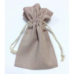 10 Sacos de algodón, color rosa palo 12x17 cms.